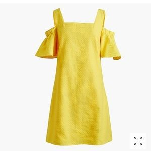 J. Crew Daffodil Yellow Cold Shoulder Dress